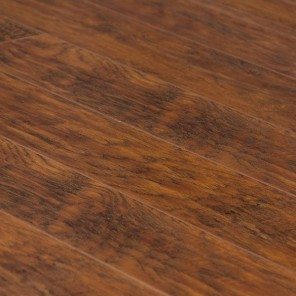 Hand Scraped Bronze Hickory Laminate 5""